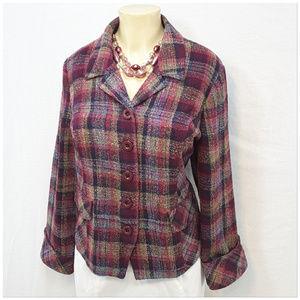 CHRISTOPHER & BANKS, Tweed Blazer, size XL PETITE
